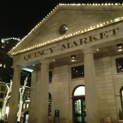 Photo taken at Quincy Market by Lorenzo on 4/4/2013