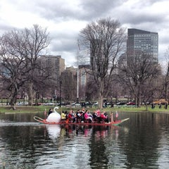 Photo taken at The Swan Boats by C.C. C. on 4/13/2013