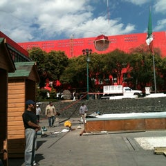Photo taken at Delegación Cuajimalpa by Edmundo G. on 12/12/2012