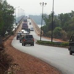 Photo taken at Mandovi Bridge by Viju G. on 11/30/2012