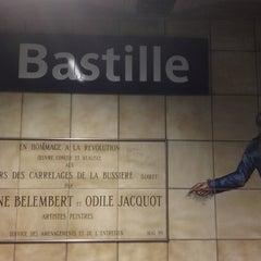 Photo taken at Métro Bastille [1,5,8] by Avilon J. on 3/23/2013