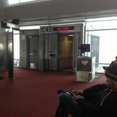 Photo taken at Gate C43 by Matthew W. on 2/11/2013