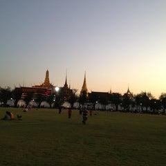 Photo taken at สนามหลวง (Sanam Luang) by Oiy C. on 1/18/2013