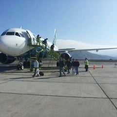 Photo taken at Aeropuerto La Florida (LSC - SCSE) by Joseph S. on 9/28/2012