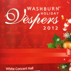 Photo taken at White Concert Hall by Sydni M. on 12/9/2012
