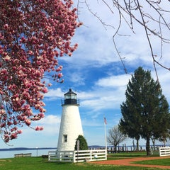 Photo taken at Concord Point and Lighthouse by Rachel on 4/17/2015