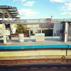 Photo taken at CTA - Belmont by Caleb W. on 10/10/2012