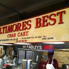 Photo taken at Faidley's Seafood & Fresh Fish Market by Chalsea C. on 11/24/2012