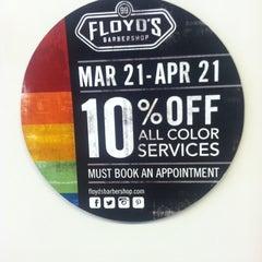 Photo taken at Floyd's 99 Barbershop by Anngelle on 3/19/2014
