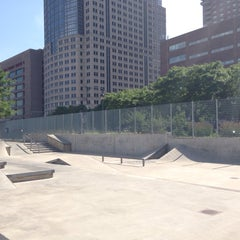 Photo taken at Tribeca Skate Park by Mónica C. on 6/26/2013