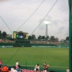 Photo taken at 청주종합운동장 야구장 (Cheongju Baseball Stadium) by InHee L. on 9/2/2015