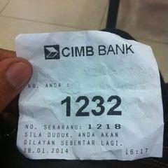 Photo taken at CIMB Bank by NzbO on 1/28/2014