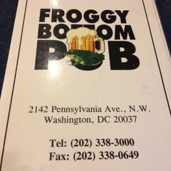 Photo taken at Froggy Bottom Pub by Harjit on 4/24/2013