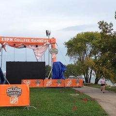 Photo taken at Northwestern Lakeside Field by Maggie C. on 10/4/2013