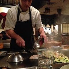 Photo taken at Kiku Japenese Steak House by Cat M. on 10/6/2012