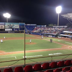 Photo taken at Estadio de Beisbol Eduardo Vasconcelos by Riko Z. on 4/10/2013