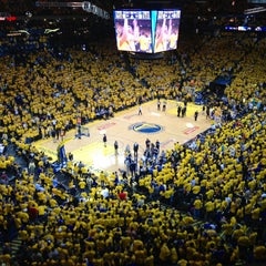 Photo taken at Oracle Arena by Arthur C. on 4/27/2013