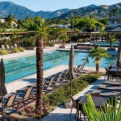 Photo taken at Calistoga Spa Hot Springs by Milestone Internet Marketing on 2/19/2014