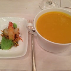 Photo taken at Dolder Grand Garden Restaurant by Tiffany D. on 12/10/2012