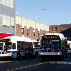 Photo taken at MTA Bus - E 125 St & Lexington Av (Bx15/M35/M60-SBS/M98/M100/M101) by 0zzzy on 10/22/2012