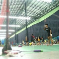 Photo taken at CC Badminton Court by PorKe' L. on 4/2/2016