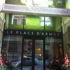 Photo taken at Le Place d'Armes Hôtel & Suites by Djay Solo on 12/15/2012