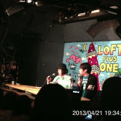 Photo taken at LOFT/PLUS ONE by sanae k. on 4/21/2013