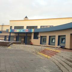 Photo taken at Бассейн «Радужный» by Mikhail M. on 2/13/2013
