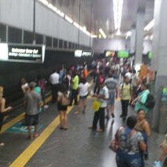 Photo taken at MetrôRio - Estação Central by Renan A. on 10/1/2012