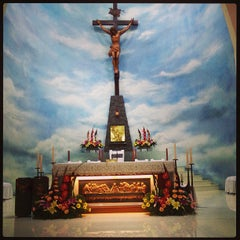 Photo taken at Gereja Katolik Roh Kudus by Deasy on 4/16/2015