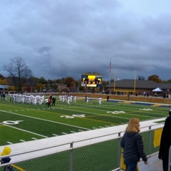 Photo taken at Memorial Field EGR Stadium by Terence M. on 10/19/2012