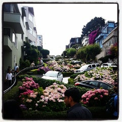 Photo taken at Lombard Street by Anthony S. on 7/15/2013