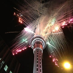 Photo taken at Sky Tower by Jessica M. on 1/1/2013
