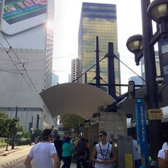 Photo taken at Pearl/Arts District Station (DART Rail) by Michael M. on 10/21/2012