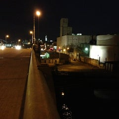 Photo taken at John Byrne-Greenpoint Avenue Bridge by retta on 4/15/2013