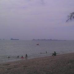 Photo taken at Pantai Puteri by Wendy H. on 12/8/2012
