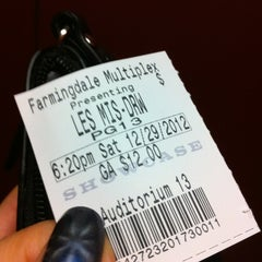 Photo taken at Farmingdale Multiplex Cinemas by Desirée H. on 12/30/2012