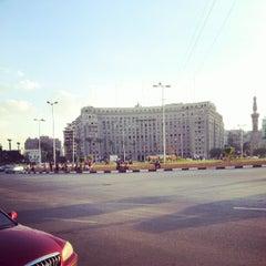 Photo taken at Tahrir Square   ميدان التحرير by Mostafa B. on 10/5/2012