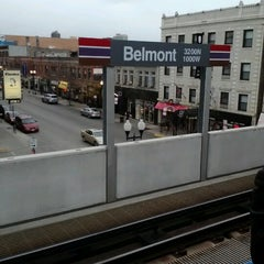 Photo taken at CTA - Belmont by Andrew K. on 11/15/2012