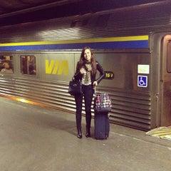 Photo taken at VIA Rail Train 63 to Toronto by Aurélie S. on 10/21/2013