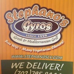 Photo taken at Stephano's Greek & Mediterranean Grill by Mark S. on 3/13/2014