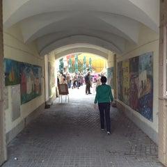Photo taken at Vasaros Terasa - Vilniaus mokytojų namų kiemelis by Alm B. on 10/14/2012