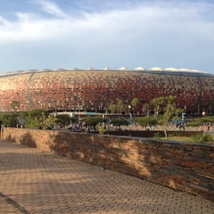 Photo taken at FNB Stadium by Nic A. on 11/10/2012