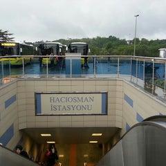 Photo taken at Hacıosman Metro İstasyonu by Doğuş Can T. on 5/10/2014
