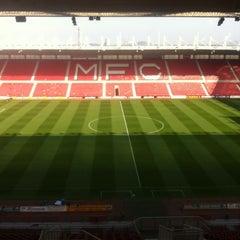 Photo taken at Riverside Stadium by Jamie B. on 10/8/2012