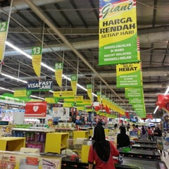 Photo taken at Giant Hypermarket by remydotcom on 1/7/2013