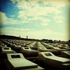 Photo taken at Catholic Cemetery Miri by Clare P. on 3/17/2013