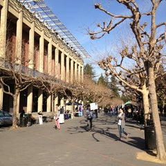 Photo taken at Sproul Plaza by John L. on 1/22/2013
