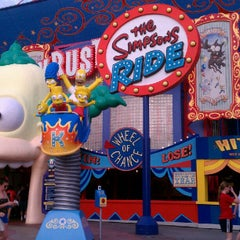 Photo taken at The Simpsons Ride by Orlando e. on 10/22/2012