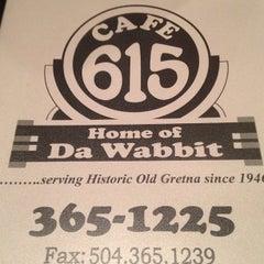 Photo taken at Cafe 615 (Da Wabbit) by Guy W. on 8/14/2013